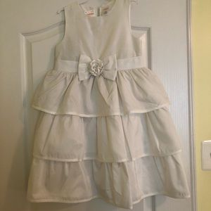 Gymboree white holiday special occasion dress NWT